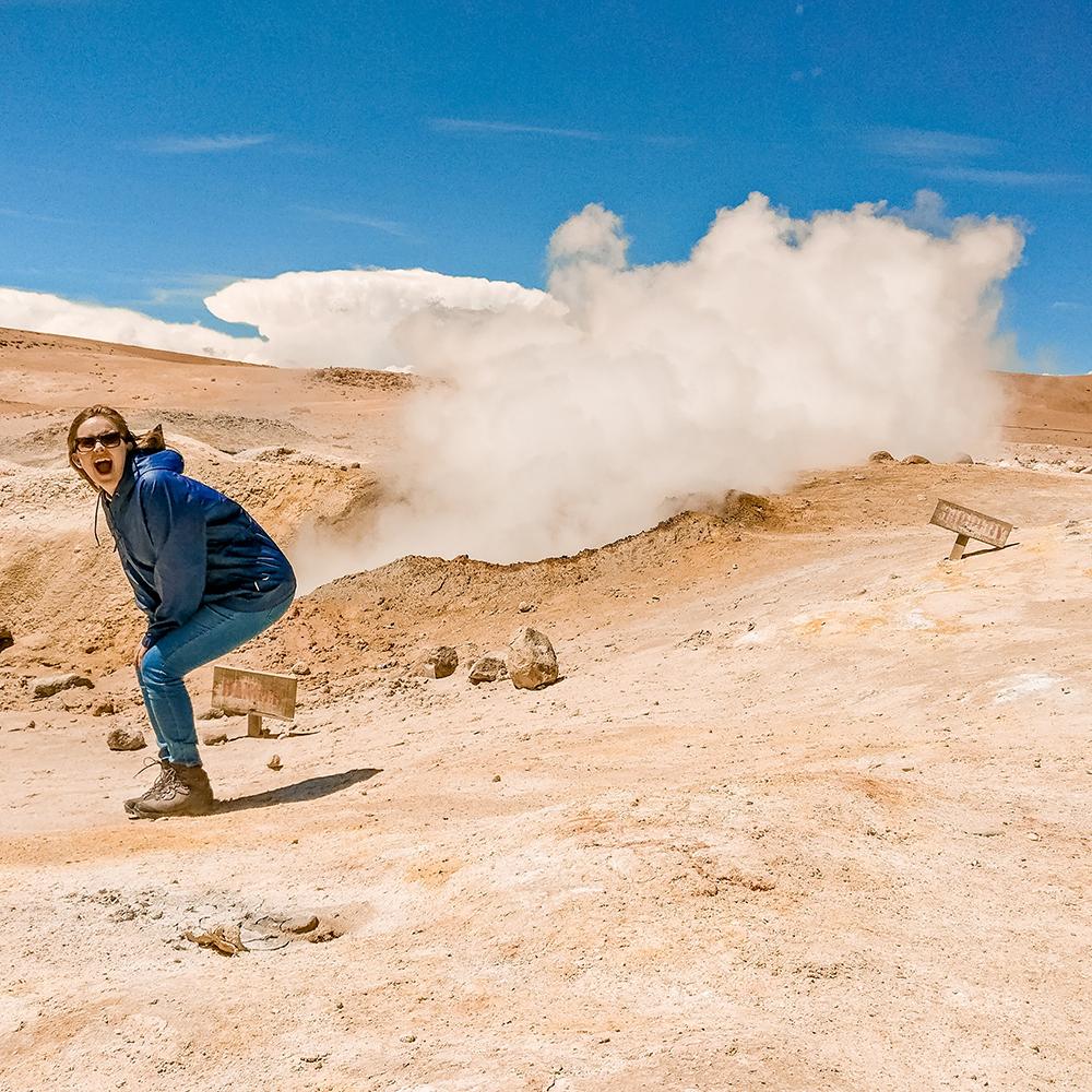 Sol de Mañana (Morning Sun) geysers - How to pick the best Uyuni Salt Flats tour to Bolivia? | Aliz's Wonderland