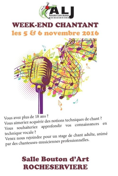Stage chant adulte 2016