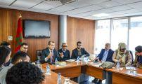 بعثة من الشباب المغربي في إسبانيا في زيارة لمجلس الجالية المغربية بالخارج.