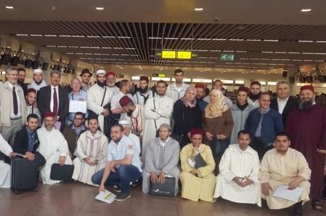 تجمع مسلمي بلجيكا يودع بعثتي وزارة الأوقاف و الشؤون الإسلامية و مؤسسة الحسن الثاني للمغاربة المقيمين في الخارج