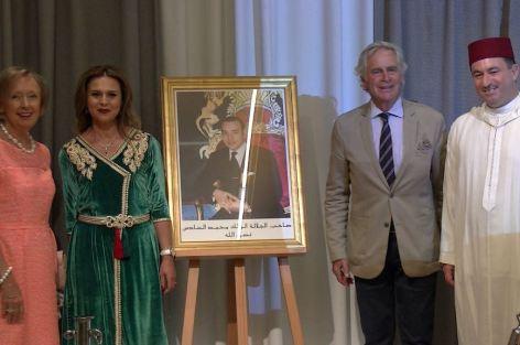 القنصلية العامة للمملكة المغربية بأنفرس تحتفل بالذكرى التاسعة عشرة لعيد العرش المجيد.