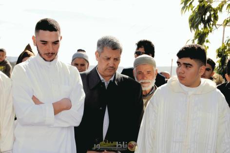تشييع جثمان صهرة الأستاذ صلاح الشلاوي رئيس تجمع مسلمي بلجيكا في محفل مهيب.