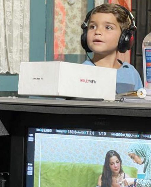 Nadine Najim's son, the youngest director - photo