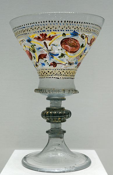 Venetian glass 16 century Luvre