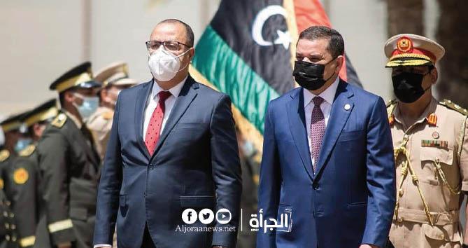 الدبيبة للمشيشي : «ليبيا تقف الى جانب تونس في حربها ضد الوباء»