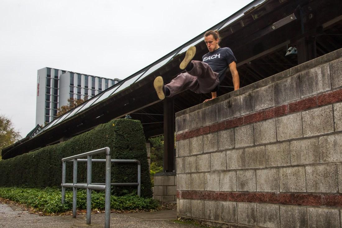 Parkour in Hamburg - Texter: Praktikant Oliver Diekmann