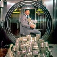 Muhammad Ali With His Winnings, 1974