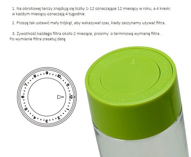 Butelka do wody alkalicznej AlkaDrop - zdjęcie dna