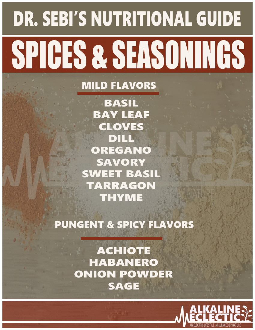 NUTRITIONAL GUIDE SPICES MAIN