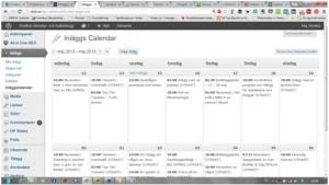 inläggskalender