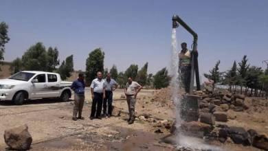 Photo of إعادة تشغيل خمسة آبار مياه في نبع الصخر وقراها المحررة بالقنيطرة