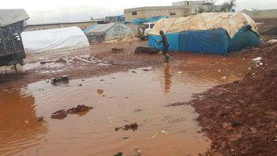 Photo of تضرّر أكثر من 20 مخيماً في المناطق المحتلة مع اشتداد العاصفة المطرية