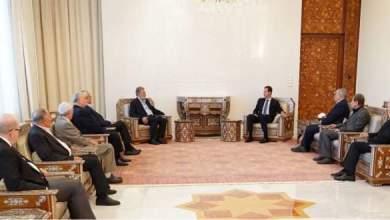 """Photo of الرئيس الأسد لوفد من قادة القوى الفلسطينية: وجود الكيان """"الإسرائيلي"""" مبنيٌّ على إرهاب شعوب المنطقة"""