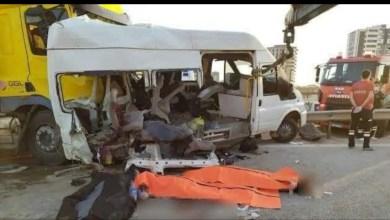 Photo of وفاة وإصابة 18 شخصا معظمهم سوريون جراء حادث مروري في تركيا