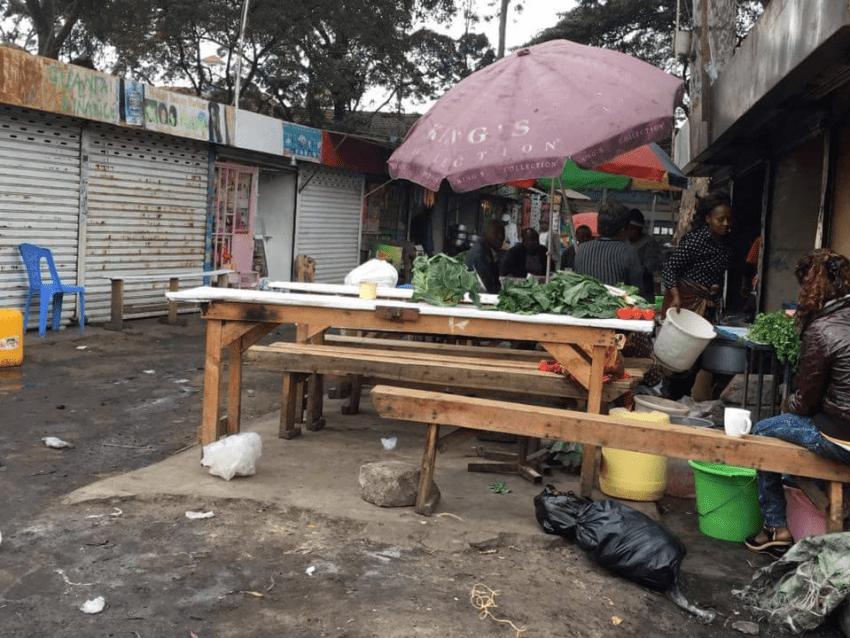 ケニアのマーケット