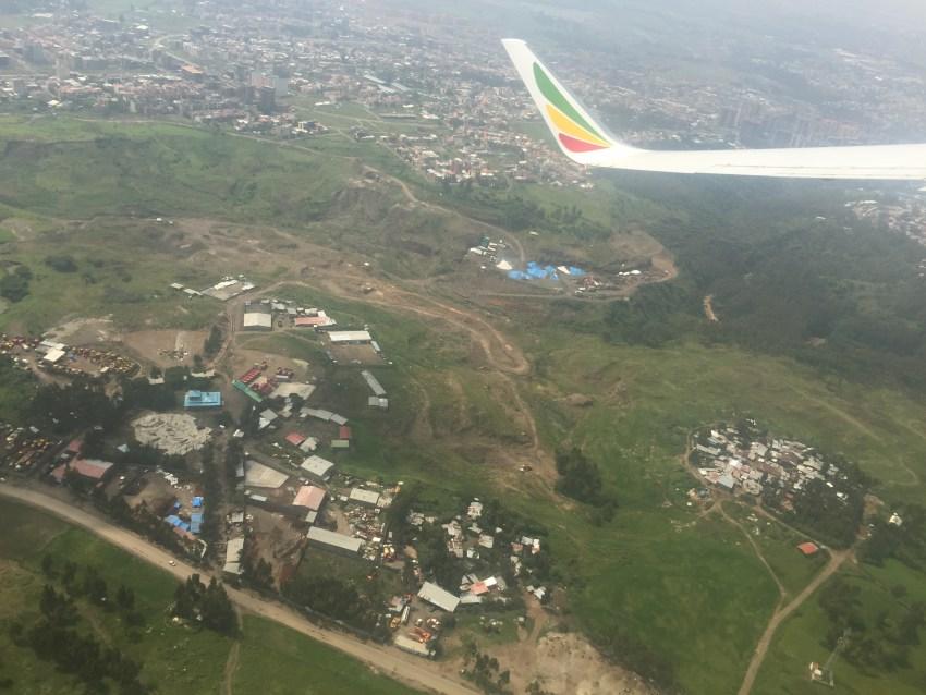 エチオピア航空からの景色
