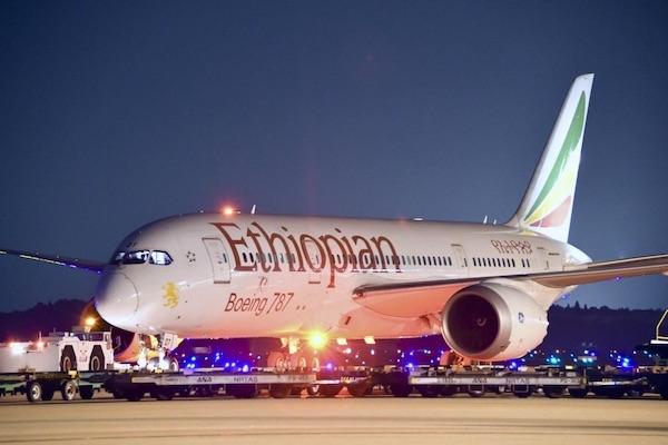 エチオピア航空、成田〜仁川〜アディスアベバ線運航停止 5月1日まで