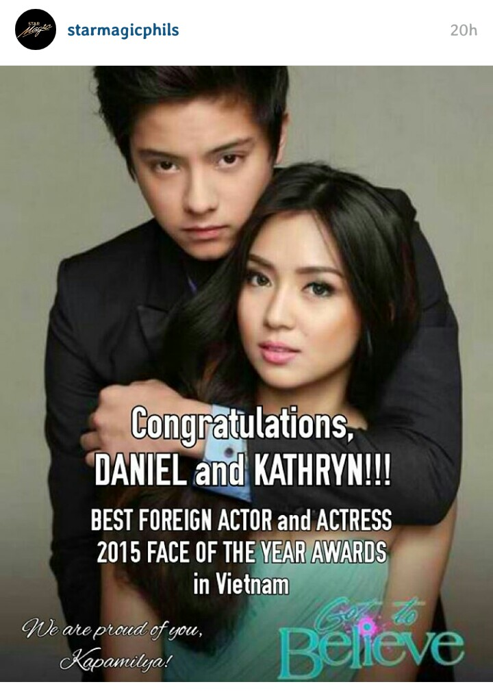 Kathniel Wins Acting Awards in Vietnam