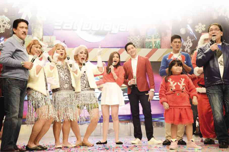 Based on data provided by Kantar Media Philippines, long-running noontime show Eat Bulaga was able to more than double the number of its household viewers in 2015, thanks in part to the AlDub segment. EAT BULAGA PHOTO