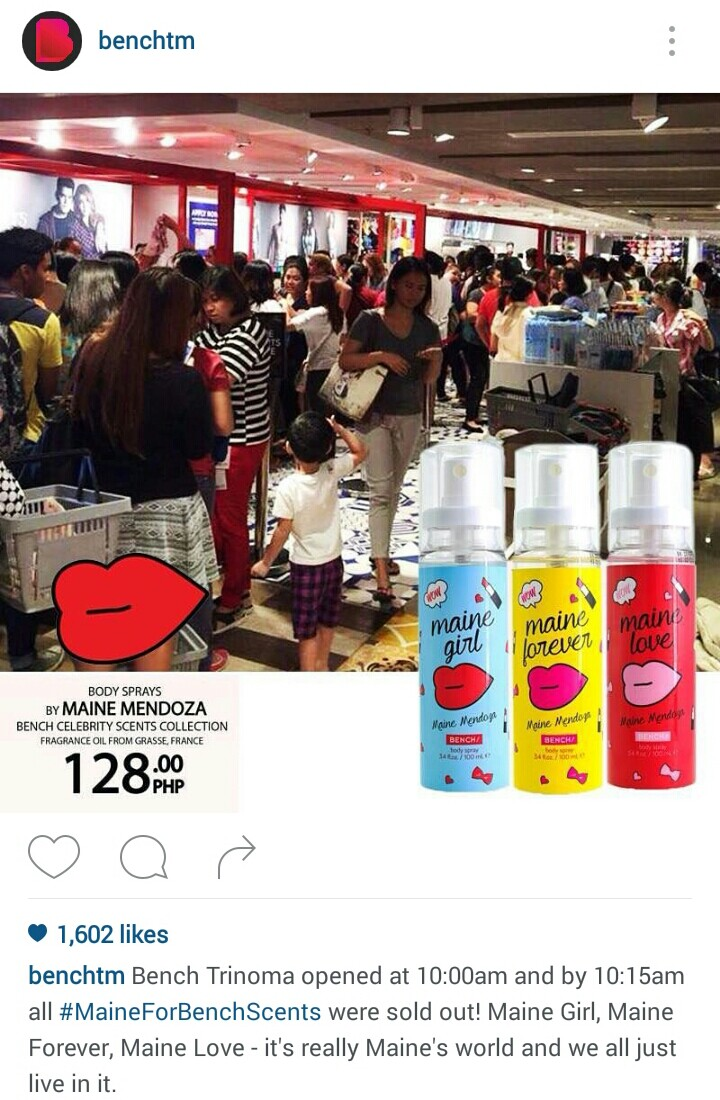 Scents Named After Maine Mendoza Sold Out in Minutes