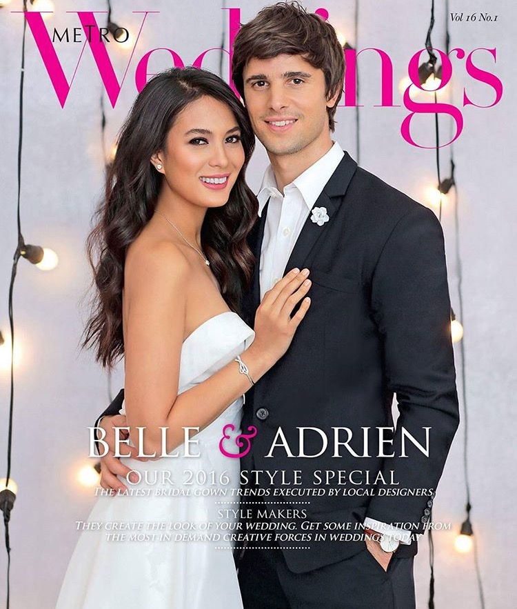 Isabelle Daza and Adrien Semblat for Metro Weddings