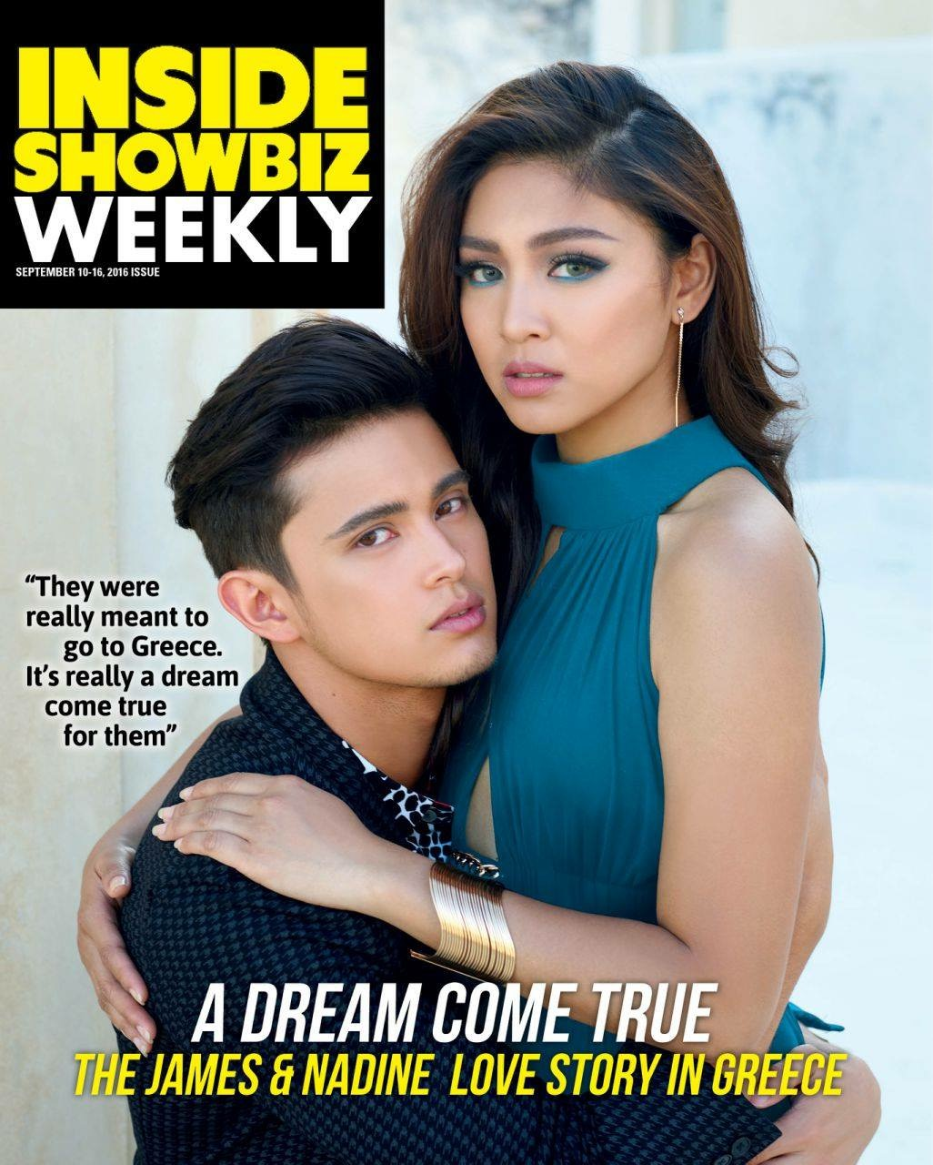 James Reid and Nadine Lustre on the Cover of Inside Showbiz Weekly
