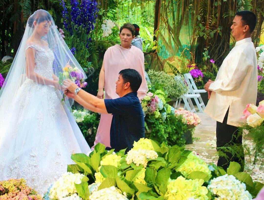 Maine Mendoza in a wedding dress