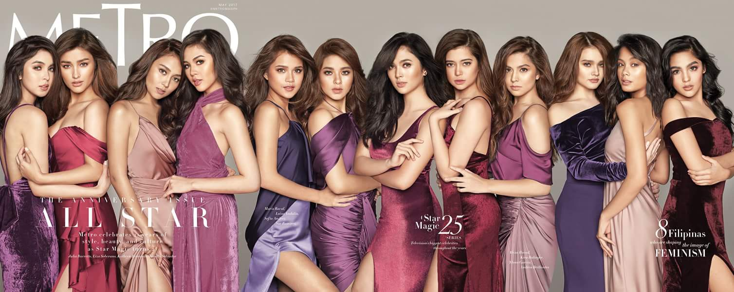 Star Magic's Female Stars on the Cover of Metro
