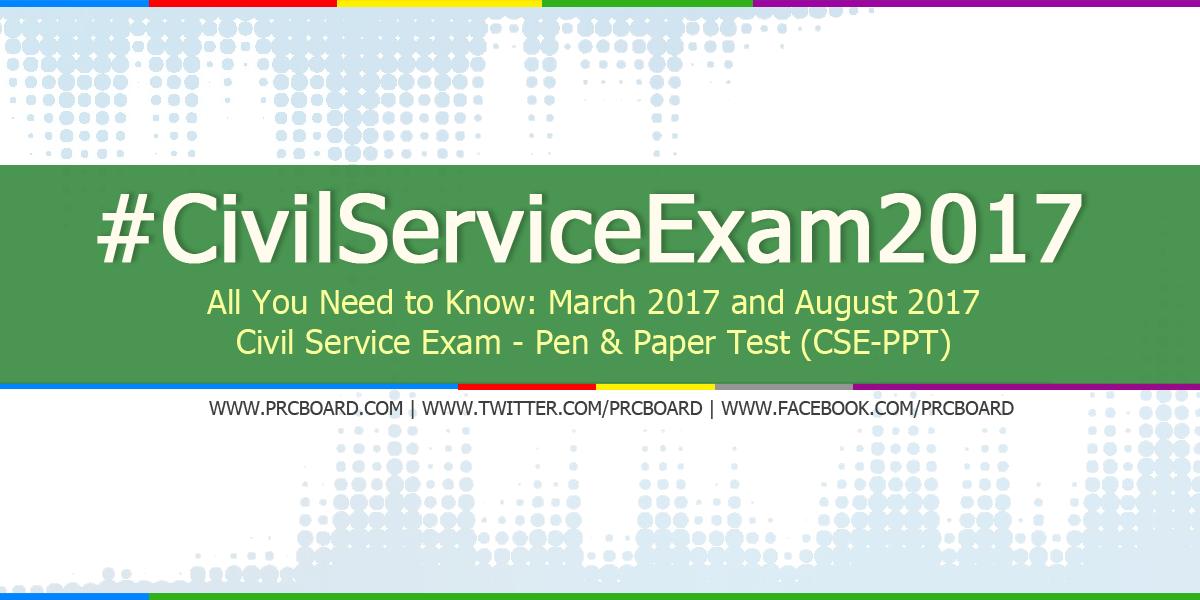 August 2017 Civil Service Exam (CSE) Application Schedule & Requirements