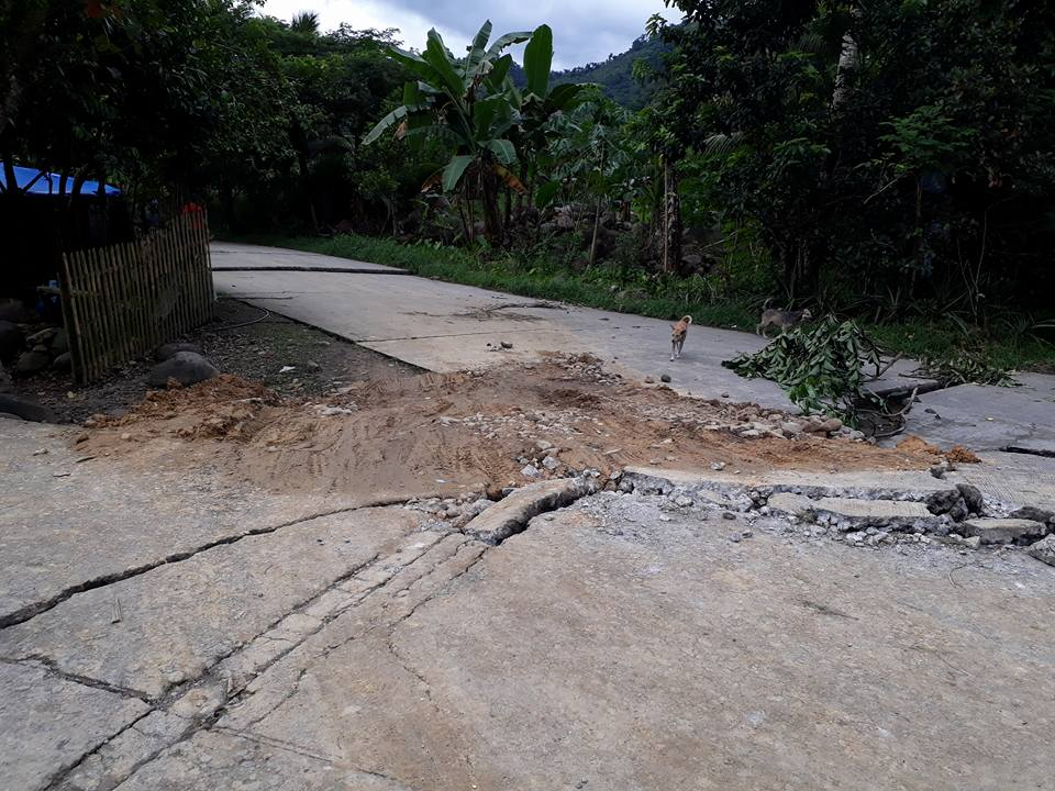 Brgy. Tongonan Kanangga Leyte earthquake aftermath