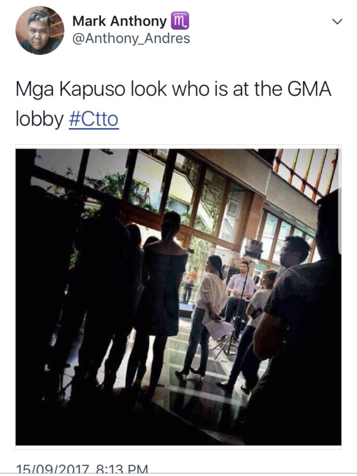 Atom Araullo at the GMA Kapuso Lobby