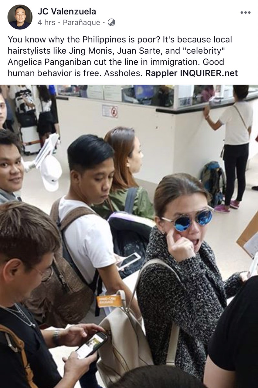 Angelica Panganiban Cutting the Line at the Airport