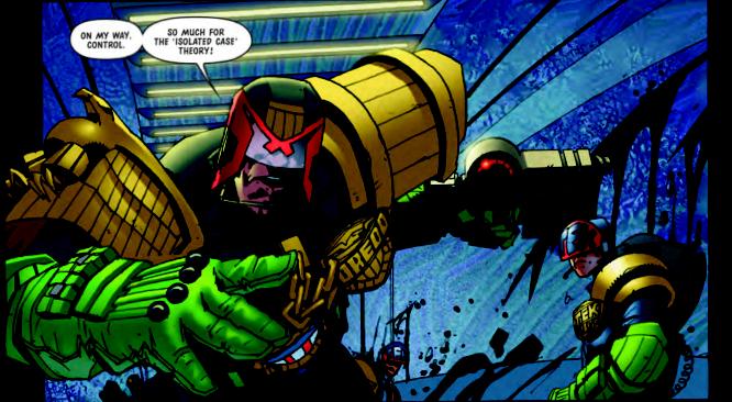 Jock making Dredd go all Neal Adams Batman is sweet as Grud
