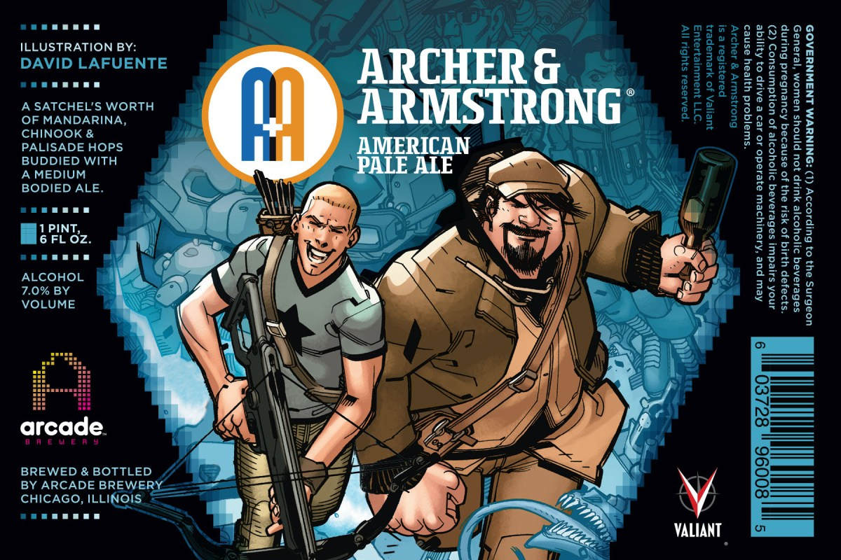 A&A: THE ADVENTURES OF ARCHER & ARMSTRONG #1 – Arcade Brewery Variant by Jay Fabares