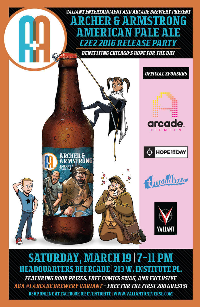 ARCHER & ARMSTRONG AMERICAN PALE ALE – C2E2 2016 RELEASE PARTY