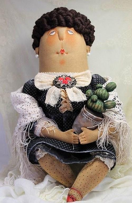 Кукла: Дама с кактусом Автор: Татьяна Козырева