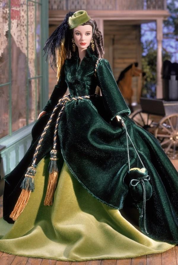 Кукла Скарлетт О`Хара в легендарном зеленом платье