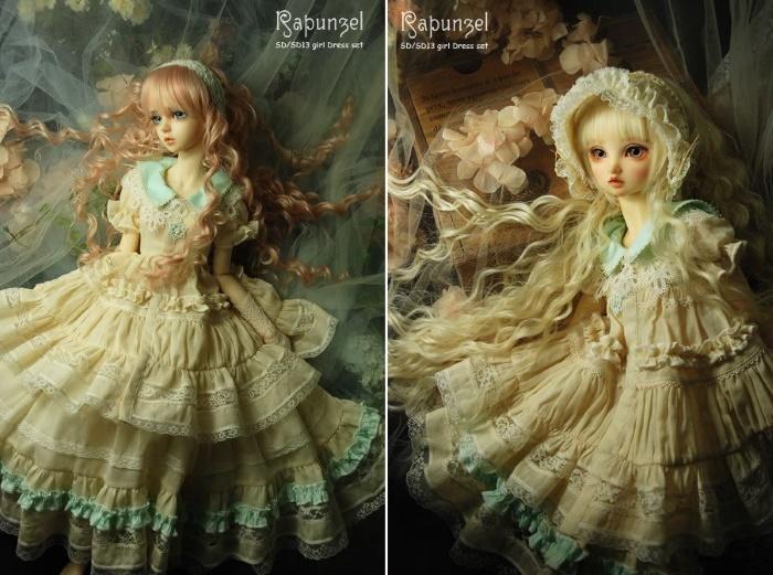 Волосы для кукол BJD. Автор: Natrume Rapunzel
