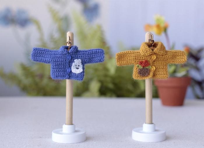 Dollhouse clothing crochet miniature jacket
