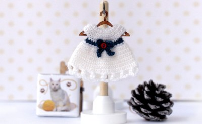 Ольга Урывская Tiny doll crochet dress