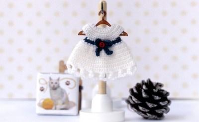 Ольга Урывская Tiny doll crochet dress