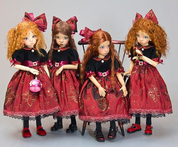 МК платье для куклы