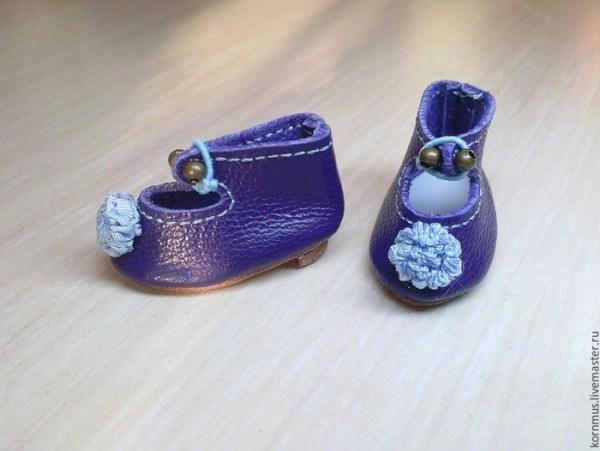 мк мини-туфли для игрушки