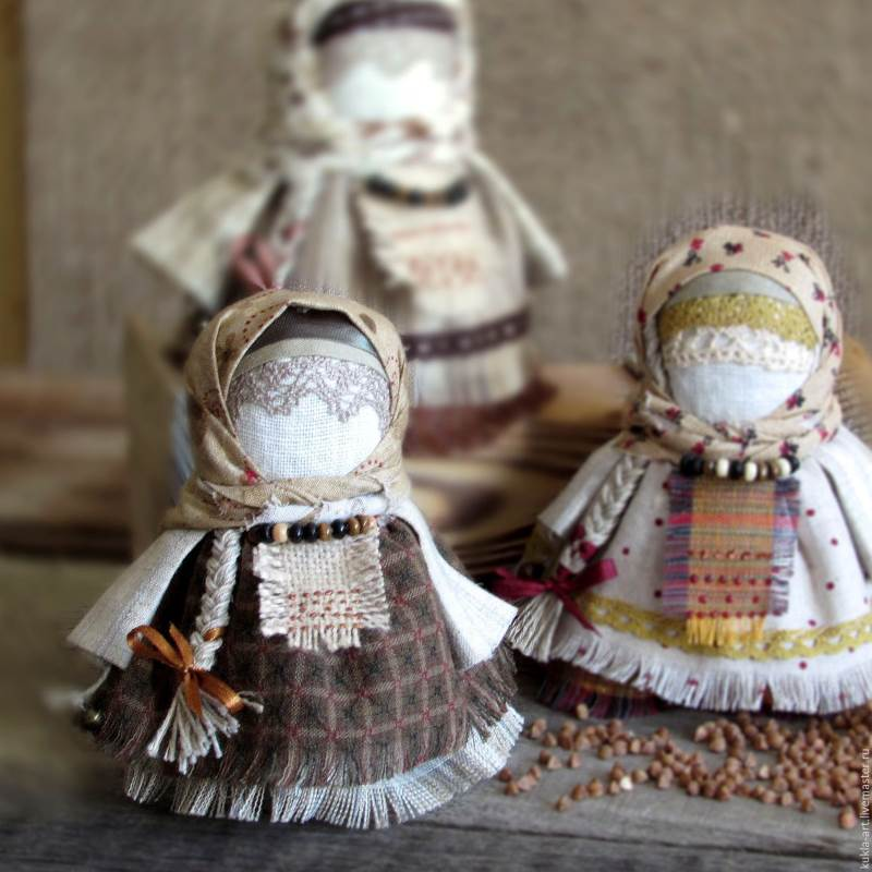 народные куклы из льна