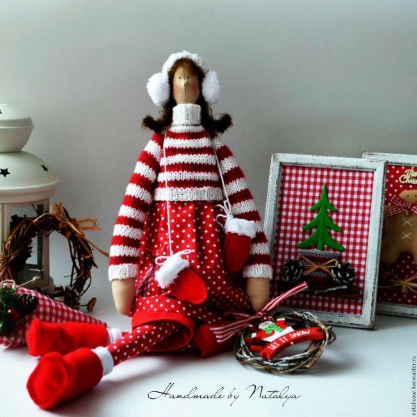 Новогодняя Тильда, Handmade by Natalya