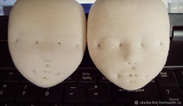 утяжка лица куклы