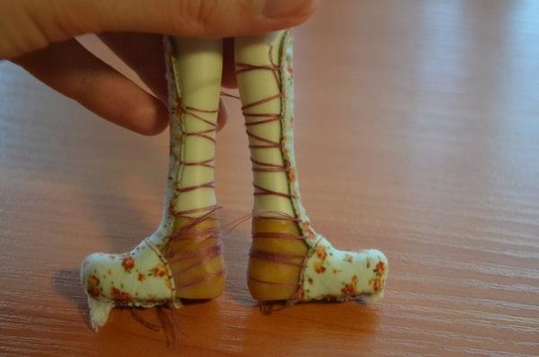 обувь для текстильной куклы