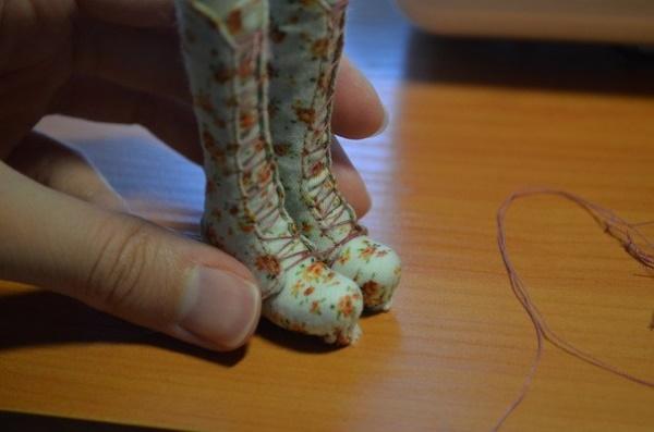 сапоги для куклы