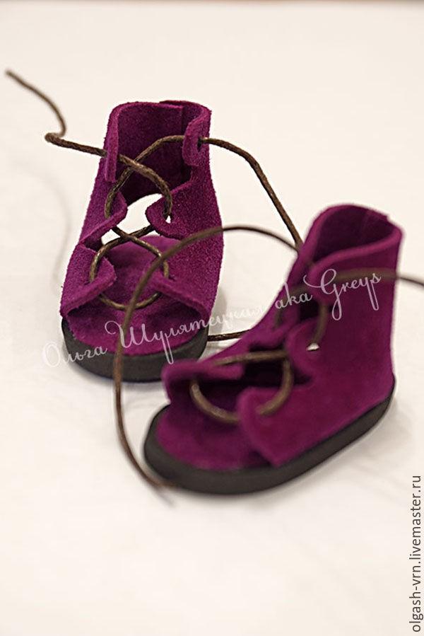 ботинки для куклы из фетра