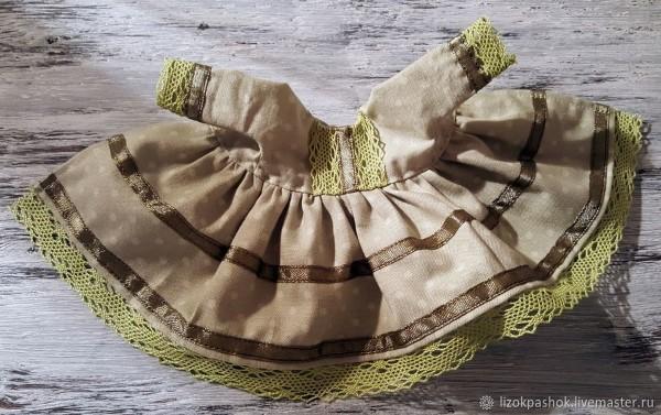 платье для текстильной куклы